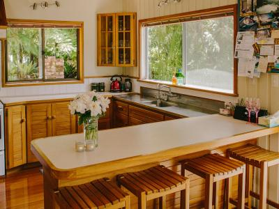 Large Rimu Kitchen