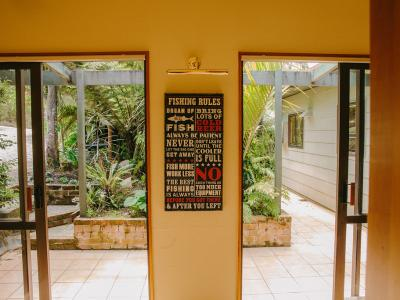 Rules for Fishing While Staying at Lanza Retreat...